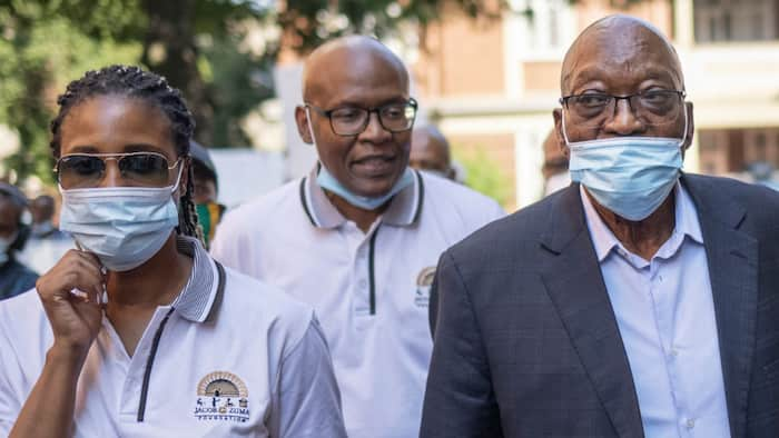 Duduzile Zuma accompanies her father to lay charges against Advocate Billy Downer