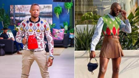 """""""Say no more"""": Mr Smeg gushes over Rich Mnisi mini skirt, man edits silly pic"""