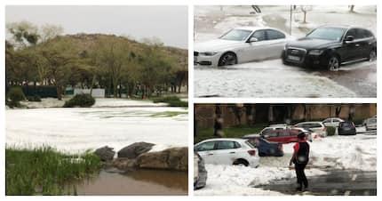 Freak hailstorm leaves 2 injured, buildings damaged at Sun City Resort