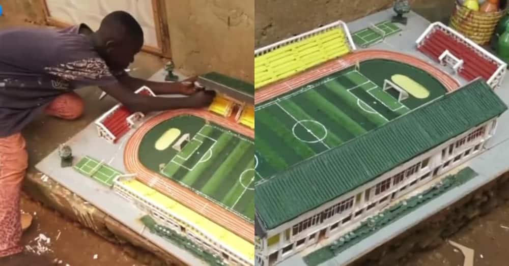 9-year-old boy creates exact replica of Axim Stadium; says he used plywood