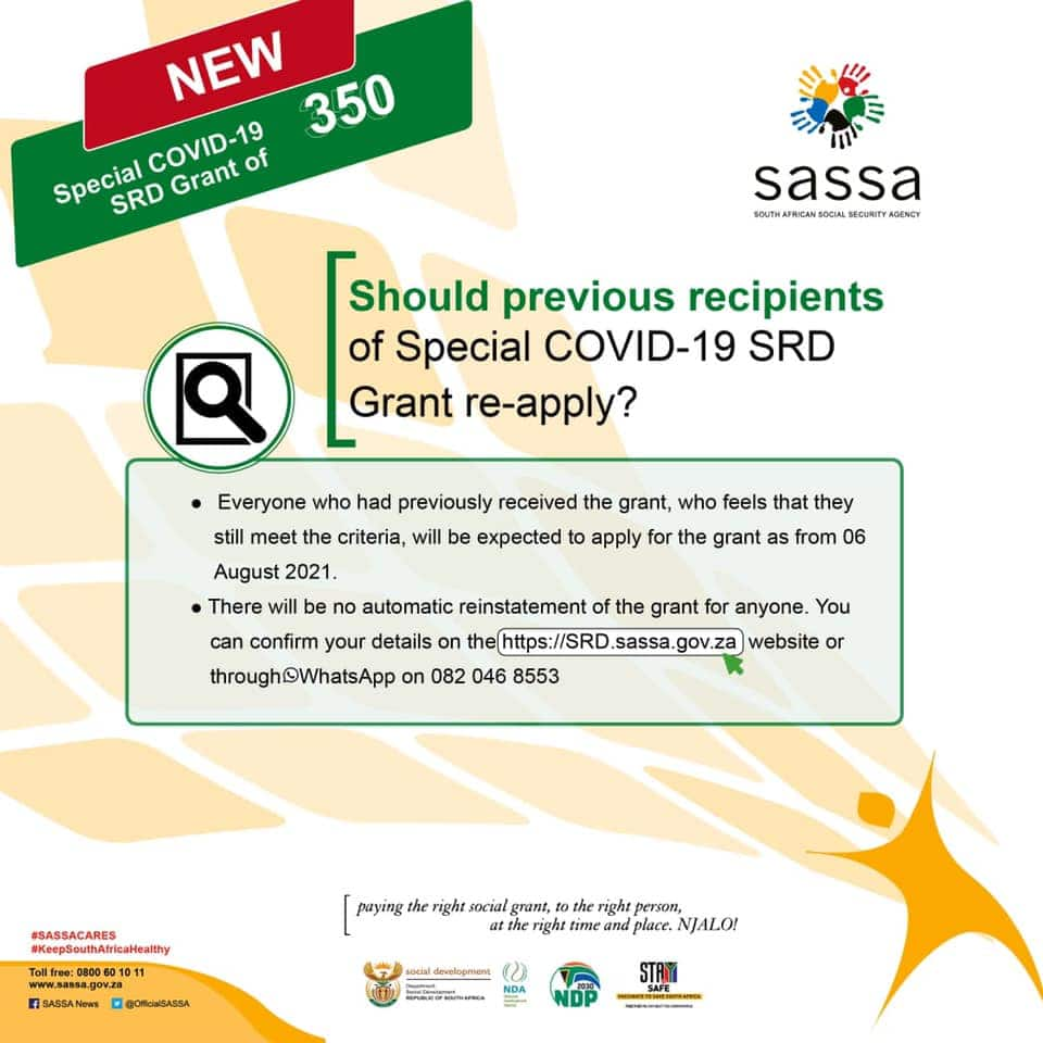 SASSA grant 2021: How to apply for Social Relief of Distress grant