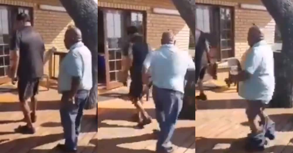 Jerusalema challenge fails as man loses his pants during the dance