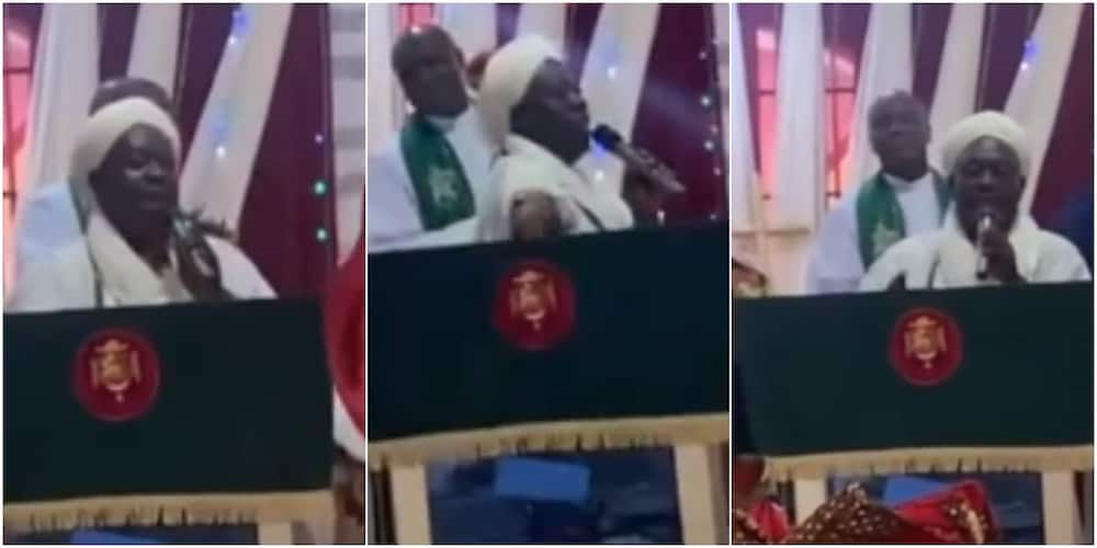 The Chief Imam visited a church in the Ikorodu area of Lagos