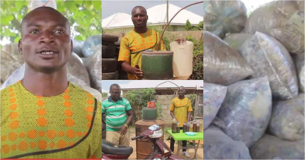 Francis Kantavooro: Genius Ghanaian man turns plastic waste into fuels to power cars and for household use