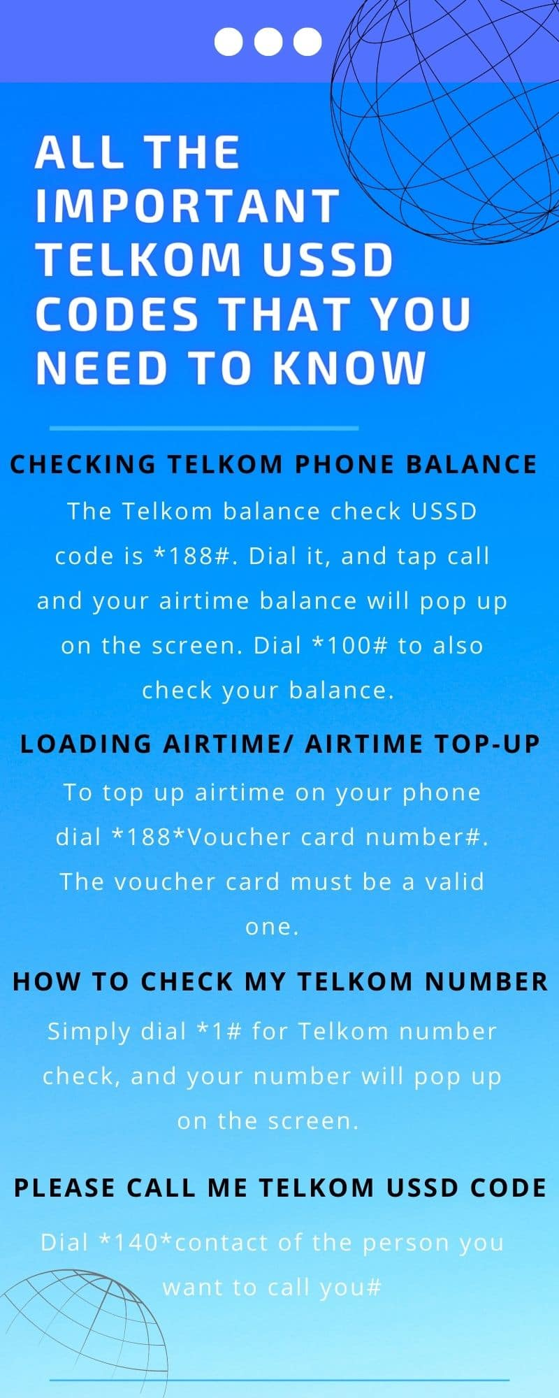 Telkom USSD codes that you need to know