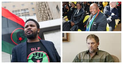 What an unlikely team: Steve Hofmeyr and Mosiuoa Lekota lay charge against BLF