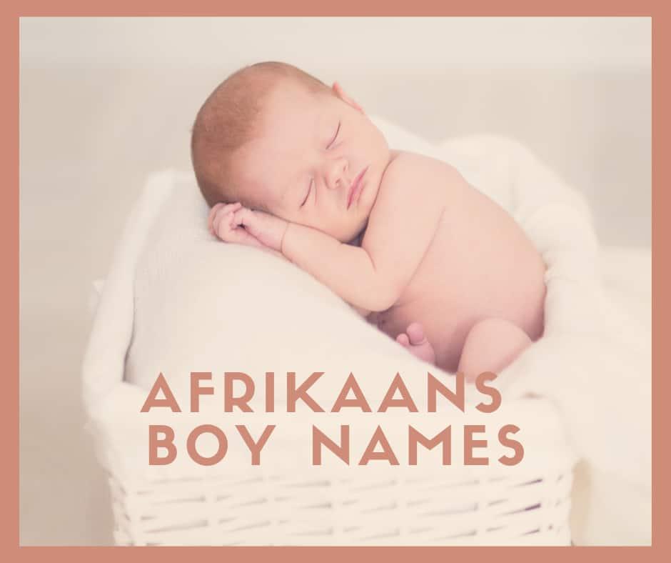 afrikaans boy names