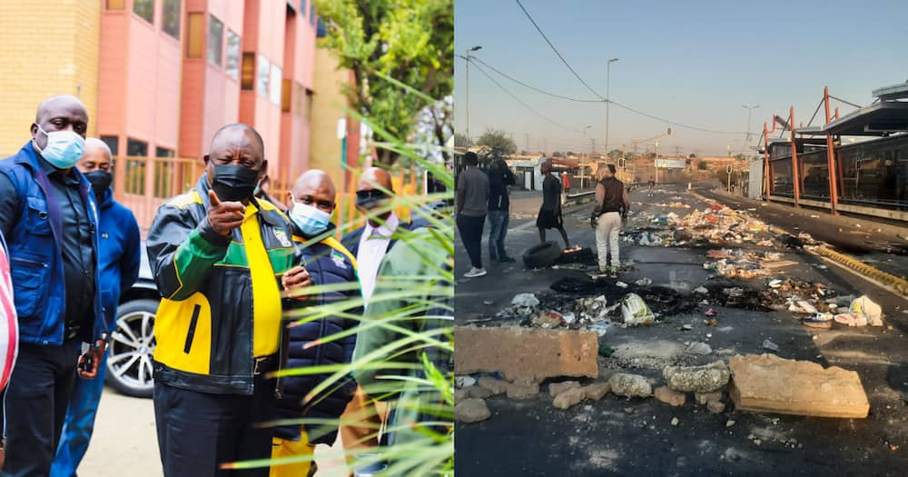 Ramaphosa, Soweto, service delivery protest, elections, ANC
