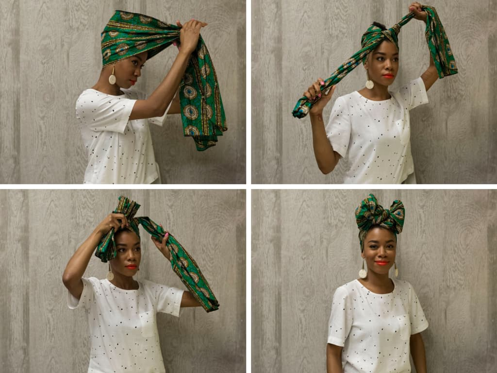 how to wrap a doek