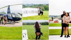 Man proposes to bae after sending helicopter to pick her up, video goes viral