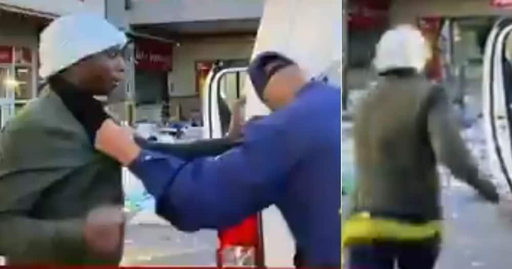 Mzansi, Stitches, Video, Man, Running, Police