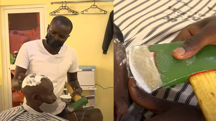 """Meet the barber shaving clients' faces using an axe: """"Some people fear"""""""