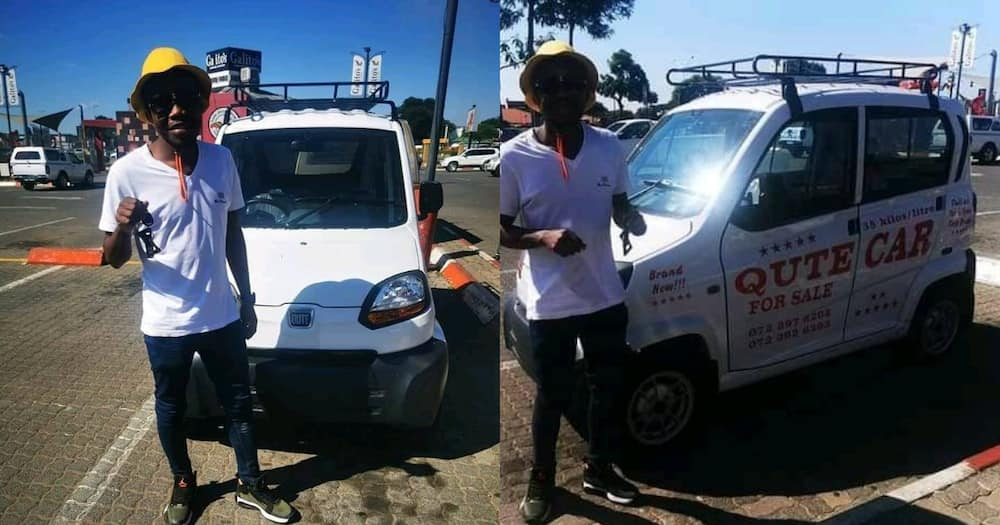 Smart Mzansi Man Buys 5 Qute Cars, Starts Successful Delivery Business