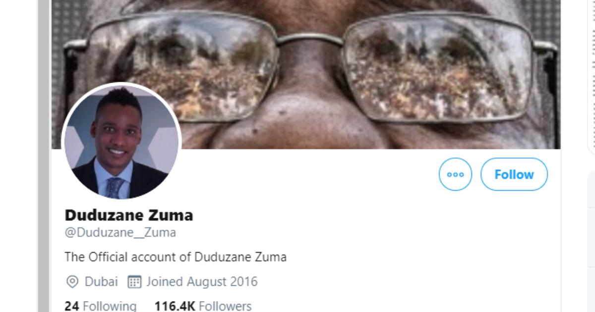 Fact Check Duduzane Zuma S Official Twitter Account Confirmed Fake