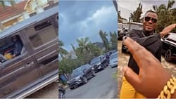 Super Eagles legend set off for Anambra in convoy with more than 7 cars for Obi Cubana's mom's burial