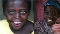 Abushe: The boy, 14, with adorable natural blue eyes everyone is talking about