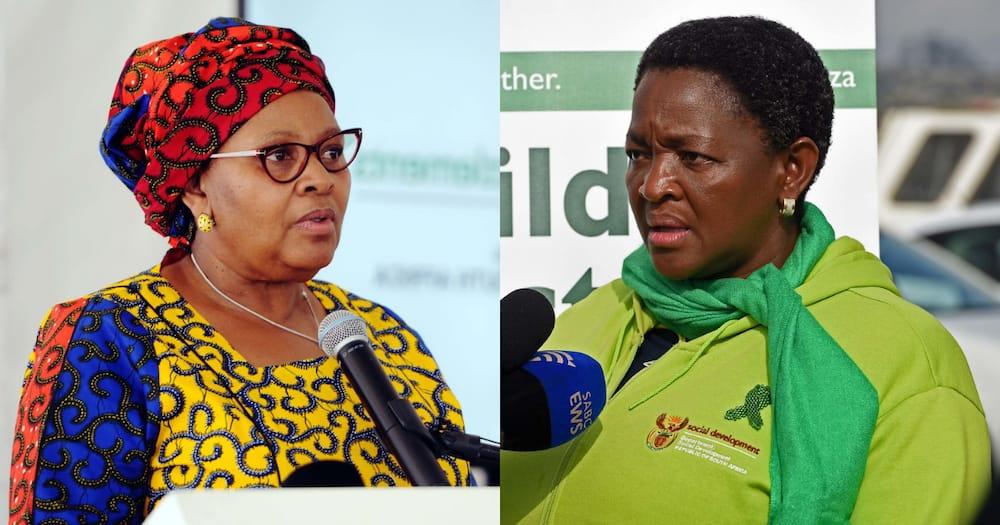 Bathabile Dlamini, defence minister Nosiviwe Mapisa-Nqakula, insurrection
