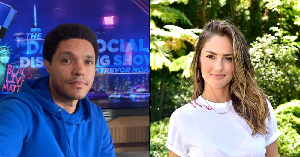 Trevor Noah spotted having lunch with his ex girlfriend Minka Kelly