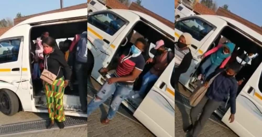 video shows 34 people crammed into a Free State taxi
