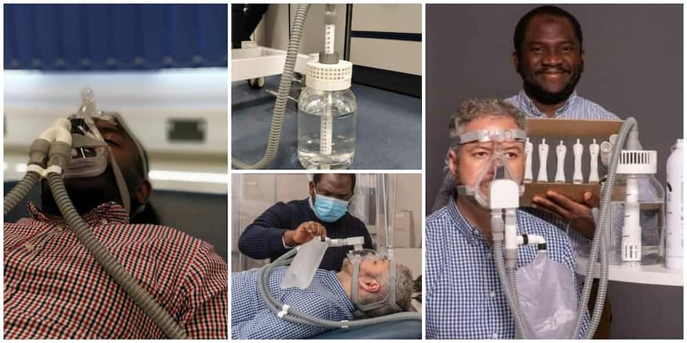 Social media celebrates Nigerian man who is the lead in the invention of a ventilator that doesn't use electricity