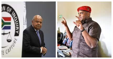 Gordhan retaliates against EFF's Shivambu after VBS testimony