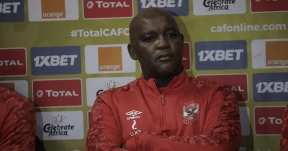 Al Ahly coach Pitso Mosimane has reacted to how he dismantled Mamelodi Sundowns. Image: @AlAhlyEnglish/Twitter