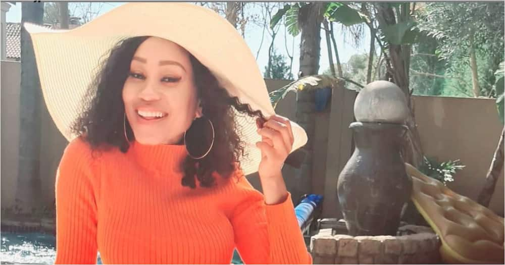 Kgomotso Christopher shares pic of her grandma and tweeps see double