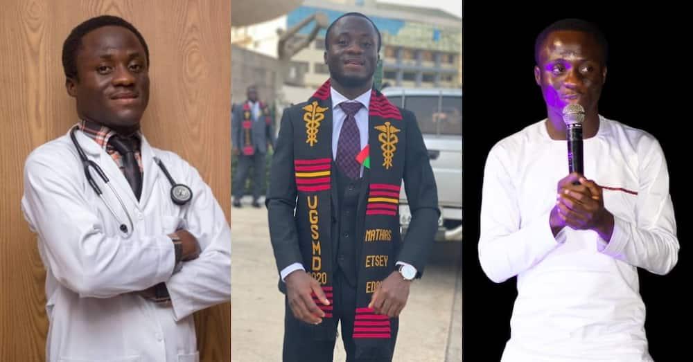 Mathias Edor: Meet 25-year-old Ghanaian doctor, author of 7 books & founder of a church