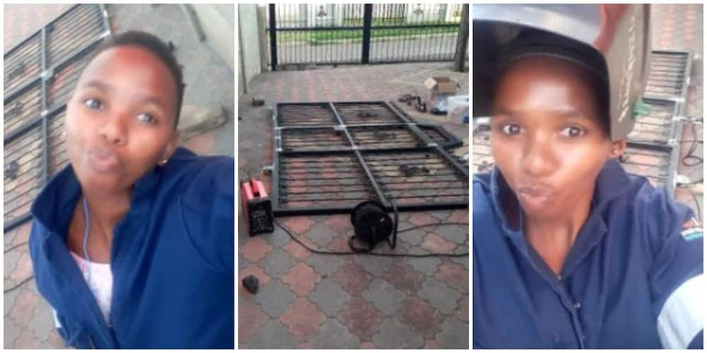 Hardworking Lady Shows Off her Hustle as a Welder with Heart-Touching Message, Many People React