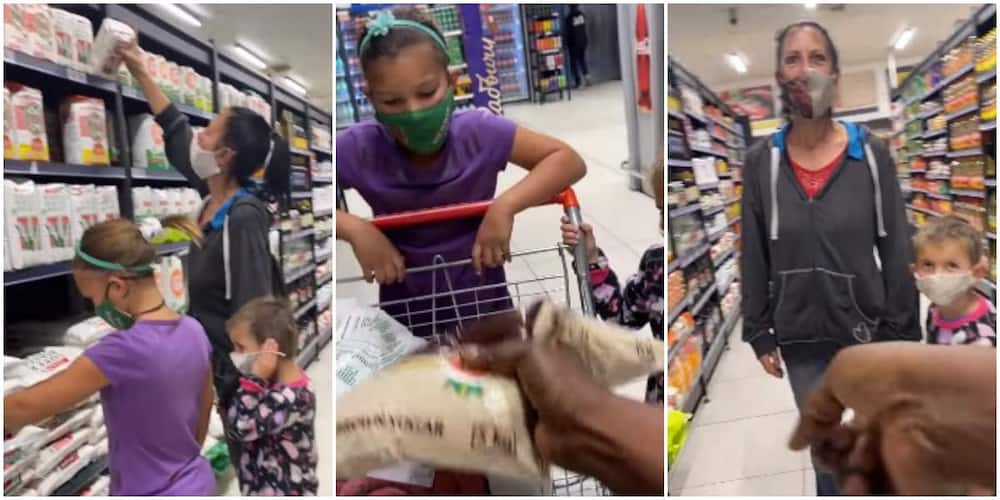 Video shows moment woman who had gone to get maize for her kids was gifted open cheque and cash by stranger