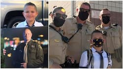 Police officers show love to deceased colleague's son, give him escort on 1st day at school