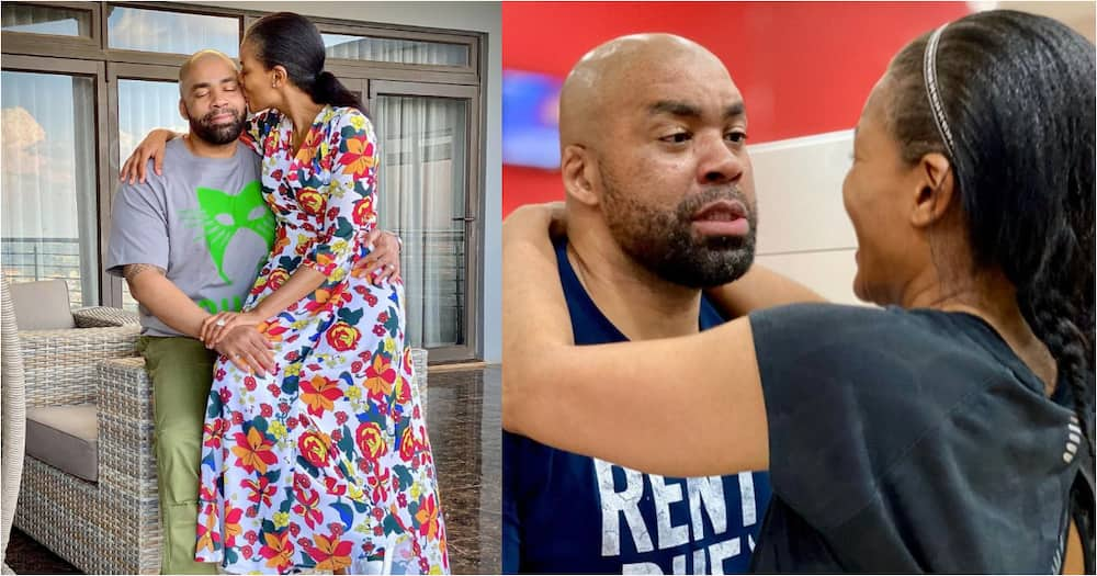 Connie Ferguson shows off her anniversary gift
