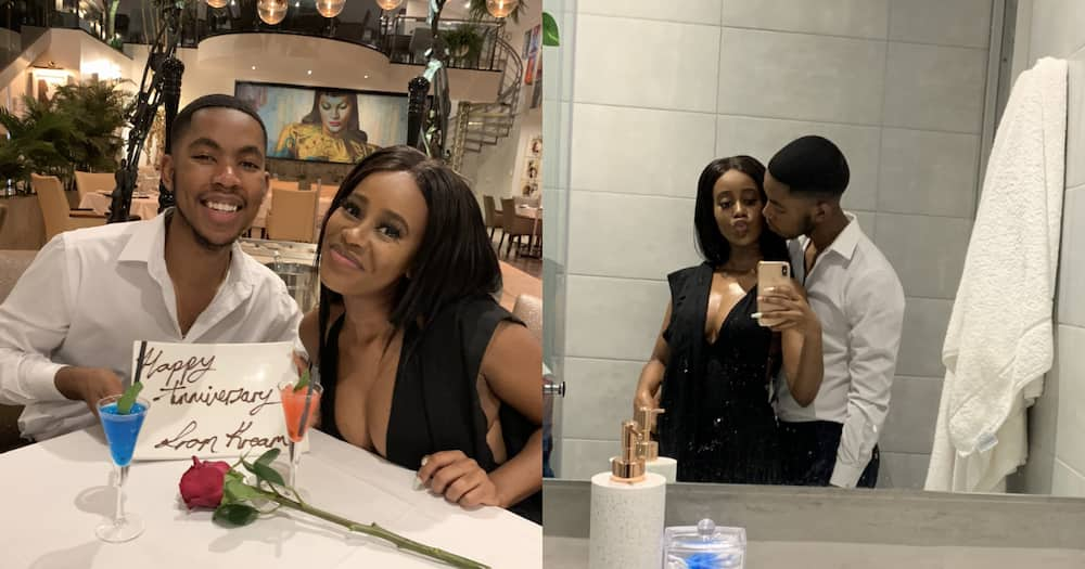 Couple share pics of how it started how it's going challenge