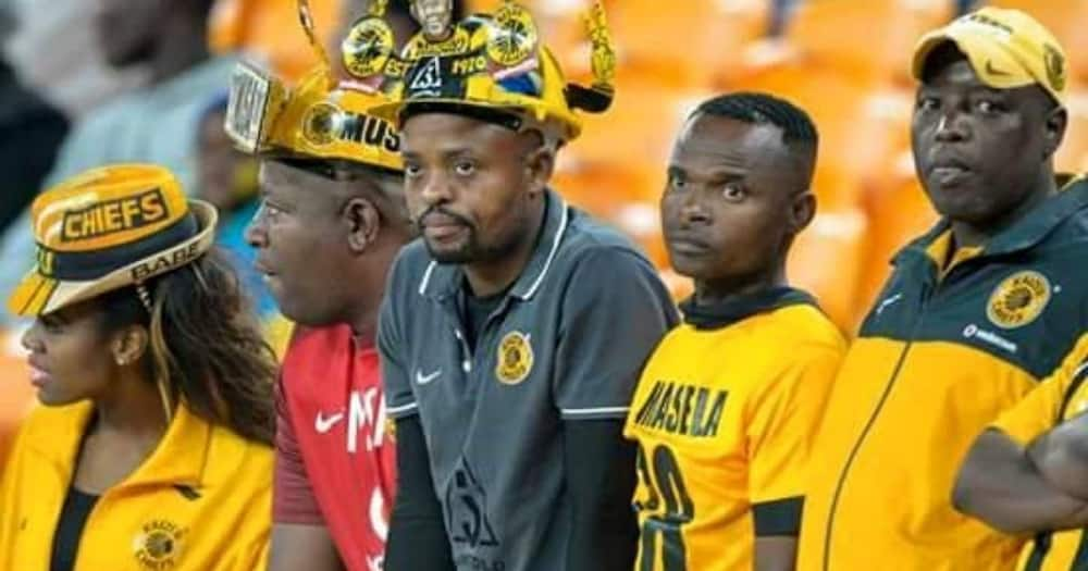 Kaizer Chiefs supporter Masilo Machaka (middle) remembers the Ellis Park disaster. Image: Facebook