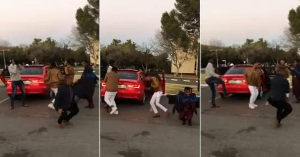 Video of men dancing to celebrate friend's graduation goes viral