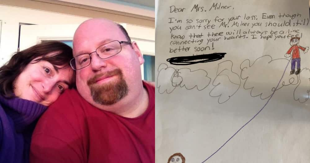 Teacher Mourning Loss of Husband Shares Sweet Drawing from Students
