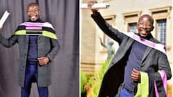 """""""Well done president"""": Mzansi praises local graduate for getting 3 degrees from Wits"""