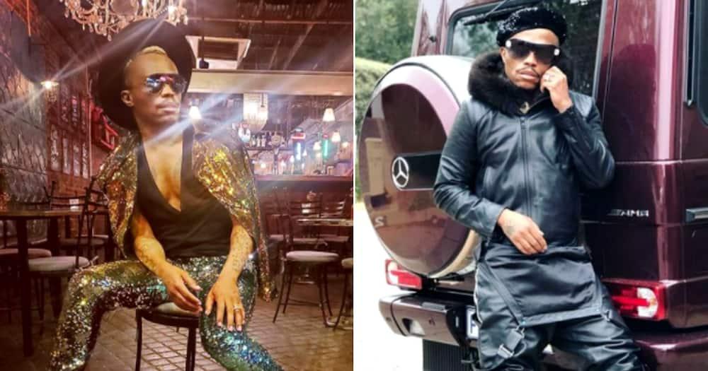 Somizi Mhlongo-Motaung flaunts young SA designers lush outfit