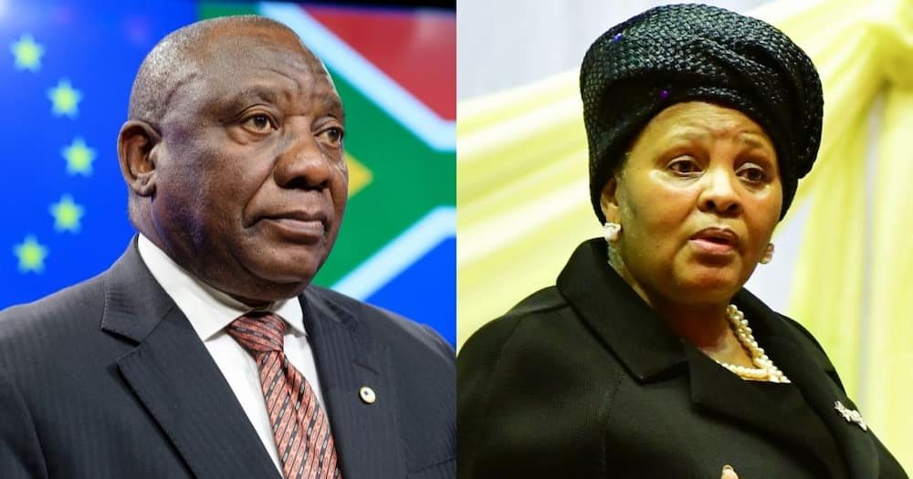 Defence minister Nosiviwe reportedly, contradicts, Ramaphosa, coup, insurrection