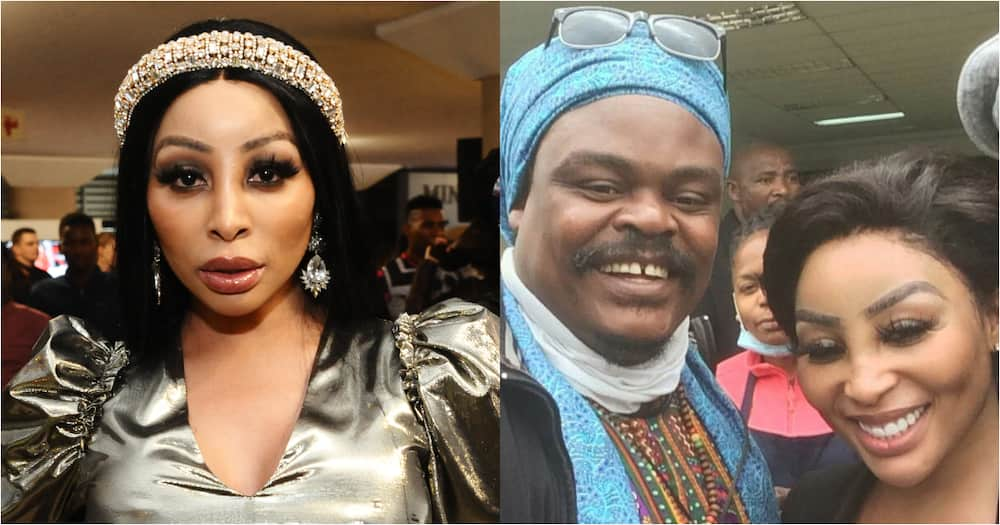 Khanyi Mbau reacts to portrait of herself done by Rasta The Artist