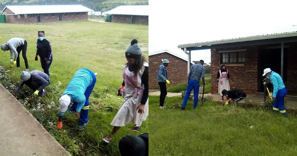 Young teachers unite to clean school ahead of reopening next week