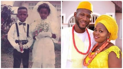 Ring bearer and little bride become husband and wife 28 years later