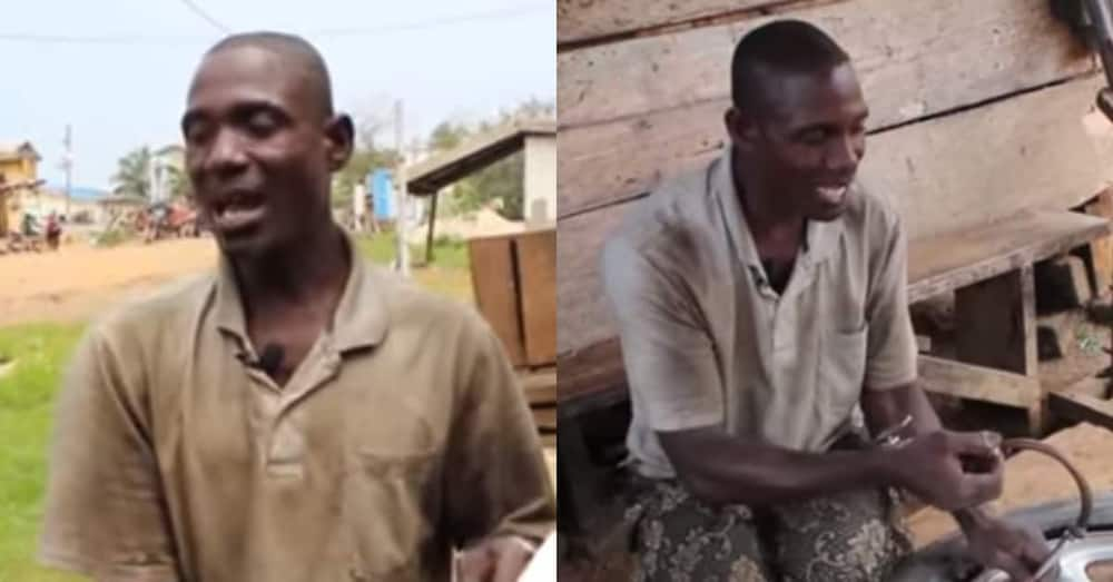 Meet the experienced & talented Ghanaian vulcanizer who is visually impaired