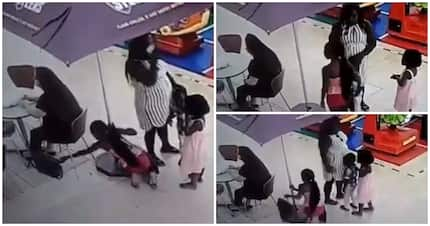 Video shows mother using her child to steal woman's handbag at Steers
