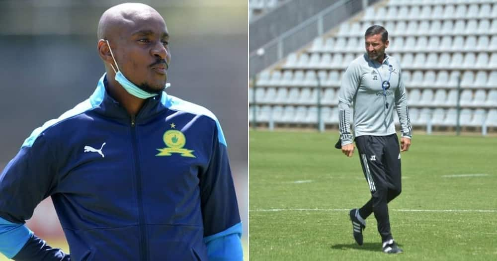 Coach Rhulani Mokwena is credited for guiding Mamelodi Sundowns over his former employers, Orlando Pirates. image: Twitter