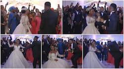 Wife can dance: bride shows off legwork despite big wedding gown