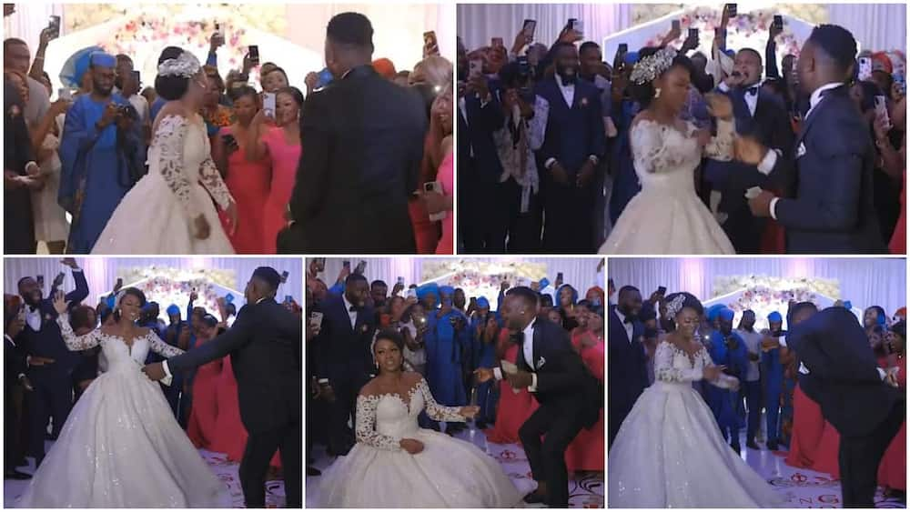 The bride outdanced the groom in the video.