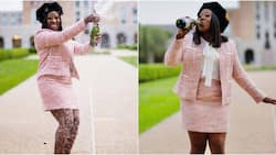 """""""If I can do it, you can do it"""": Lady inspires young girls as she celebrates becoming a lawyer"""