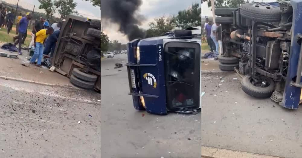 """""""Haibo"""": Mzansi Reacts to Clip of Cit Van That Was Ambushed in Midrand"""