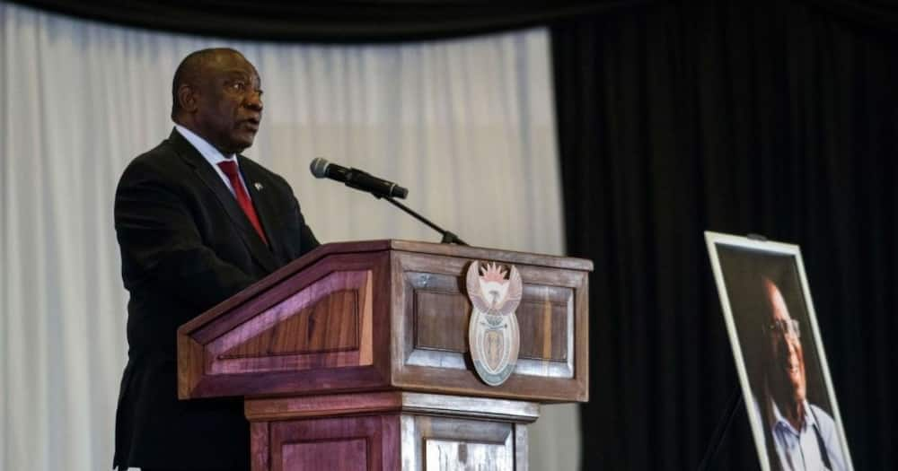 President Cyril Ramaphosa looks reflects on the day that marked 60 years since the formation of apartheid in South Africa. Image: Jerome Delay/POOL/AFP via Getty Images
